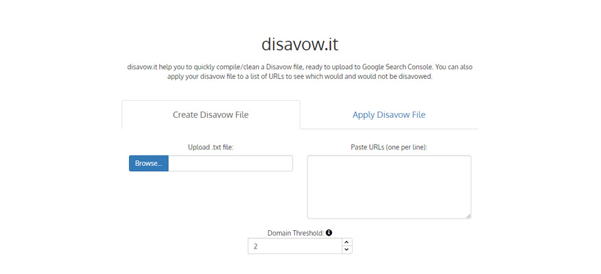 công cụ xây dựng backlink Disavow it
