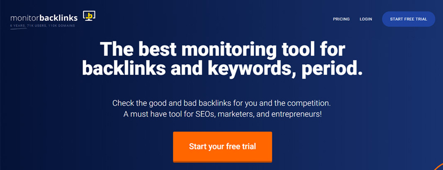 công cụ xây dựng backlink Monitor backlinks