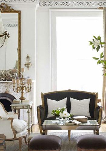 phòng khách kiểu Pháp điển hình