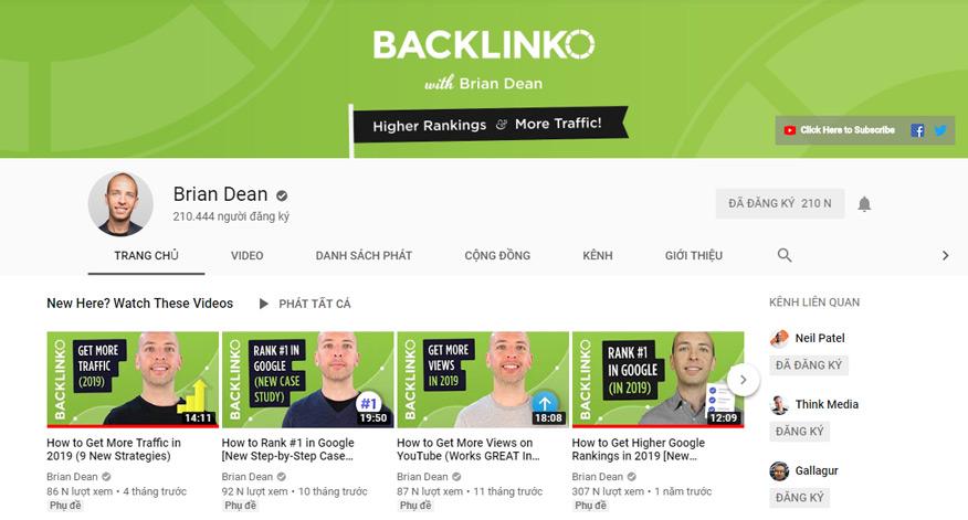 chiến dịch Marketing Online của Brian Dean