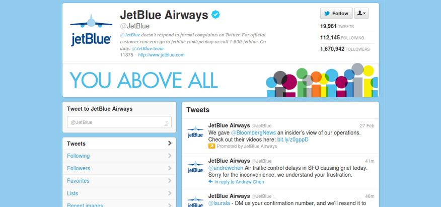 chiến dịch marketing online của JetBlue