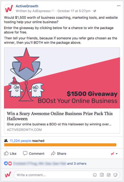 tạo các Give away tăng like Fanpage