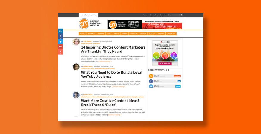 tham khảo content marketing institute