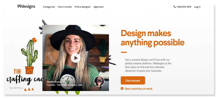 freelancer website 99designs