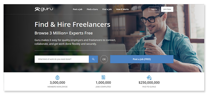 freelancer website guru