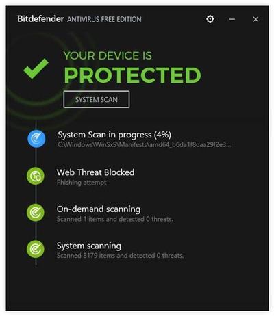 phần mềm diệt virus Bitdefender Antivirus Free