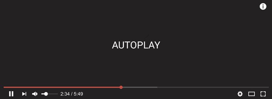sử dụng tự động phát Autoplay