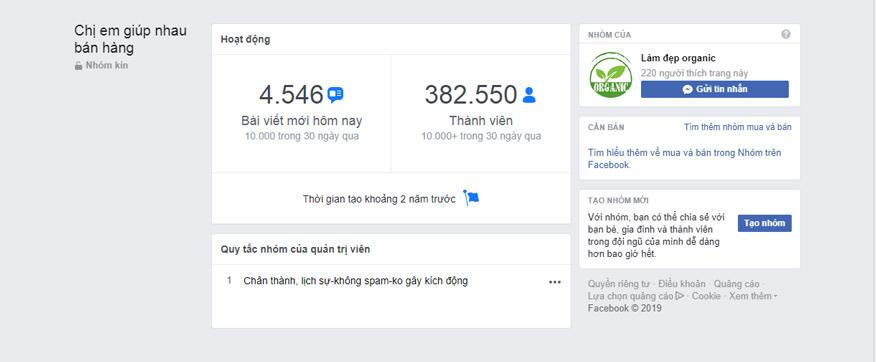 group bán hàng facebook lĩnh vực thời trang