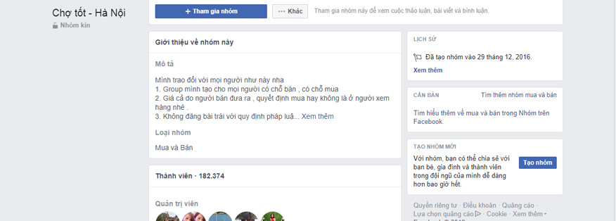 group facebook chợ online