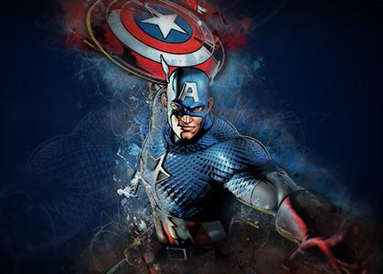 Hình ảnh nền 3D Captain America