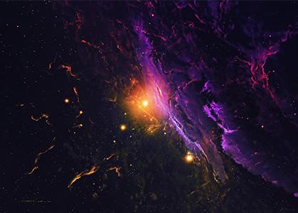 Hình ảnh nền 3D đẹp dải ngân hà