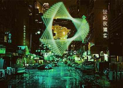 Ảnh nền 3D đẹp đường phố