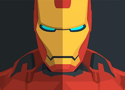 Hình ảnh nền 3D Iron Man