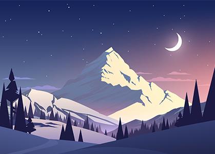 Ảnh nền 3D ngọn núi