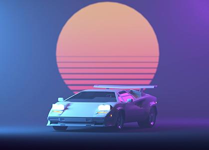 Hình ảnh nền 3D đẹp xe ô tô