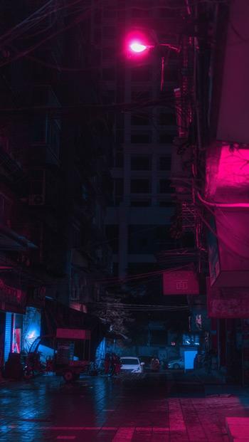 ảnh 3D đèn đường