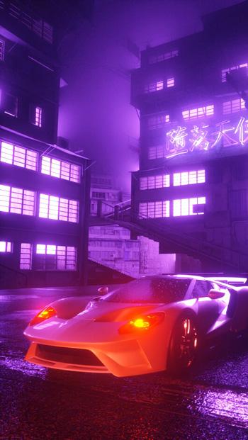 Hình ảnh nền 3D xe hơi