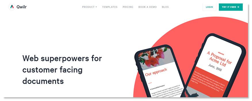 website Qwilr