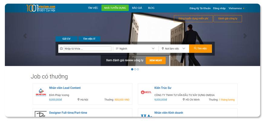 website tuyển dụng 1001 việc làm