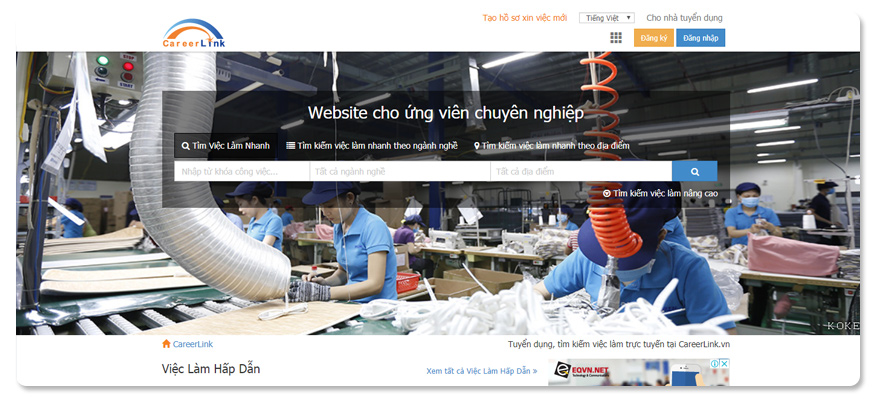 website tuyển dụng Careerlink