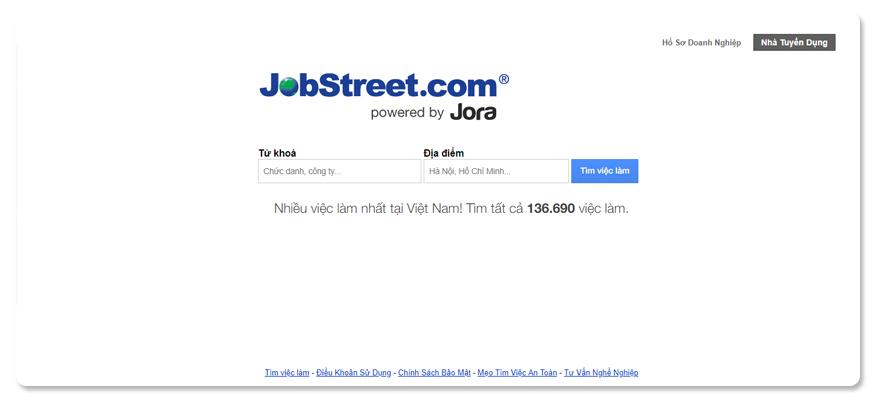 website tuyển dụng Jobstreet