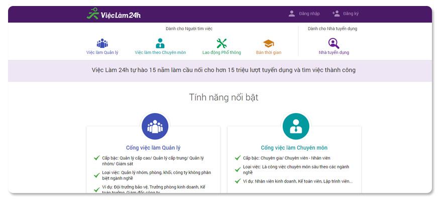 website tuyển dụng vieclam24h