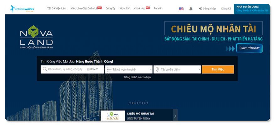 website tuyển dụng vietnamworks