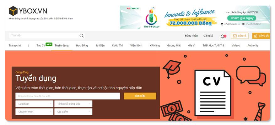 website tuyển dụng ybox