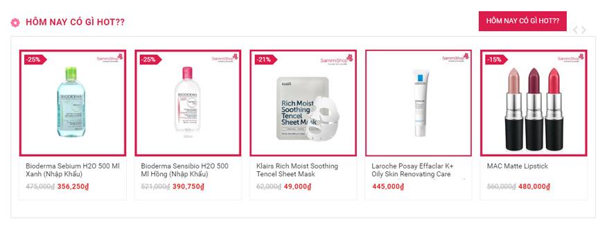 bán hàng mỹ phẩm online