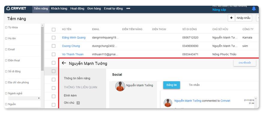 phần mềm CRM Việt