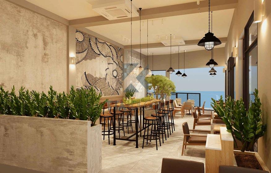 quán cafe kết hợp cây phong thủy