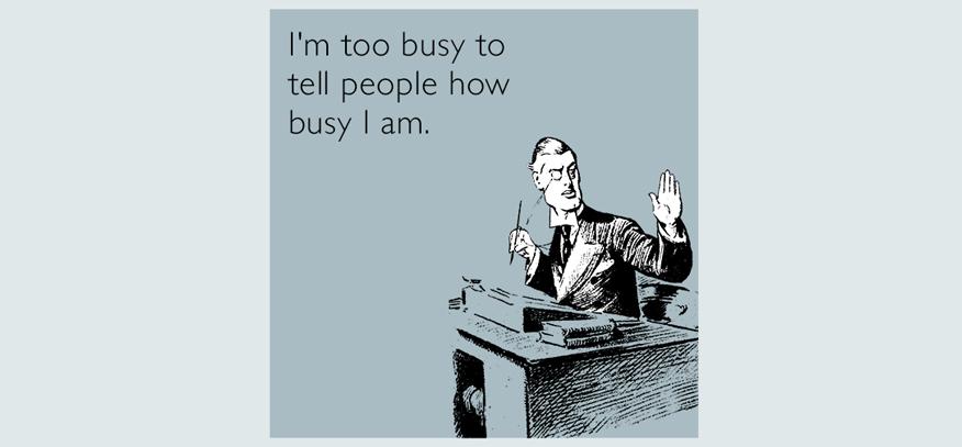 từ chối mua hàng vì đang bận