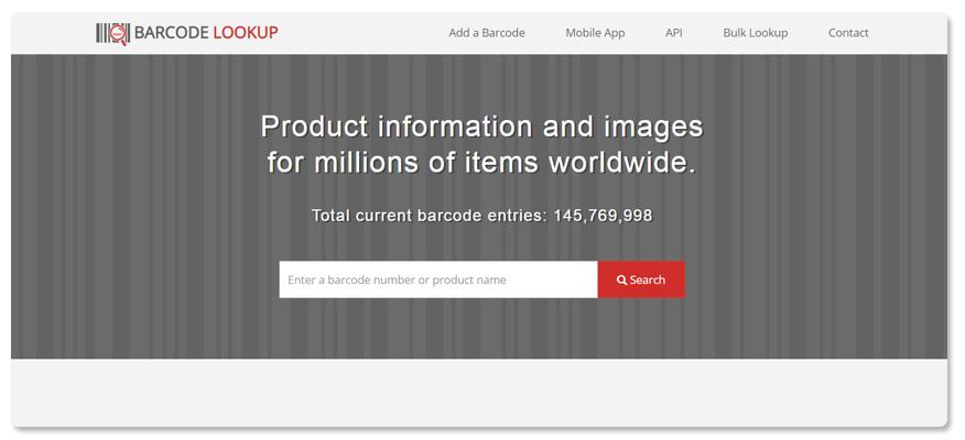 website check mã code Barcode Lookup