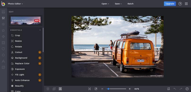 BeFunky - phần mềm chỉnh sửa ảnh