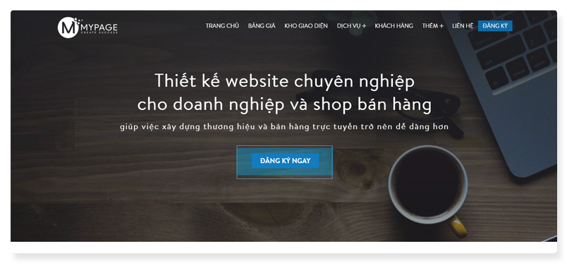 công ty thiết kế website MyPage