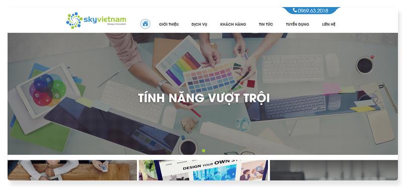 công ty thiết kế website SkyVietnam