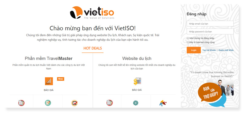 công ty thiết kế website Vietiso