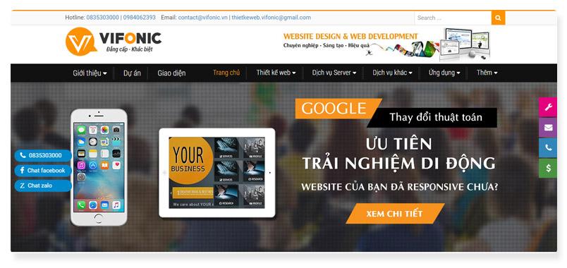 Công ty thiết kế website vifonic