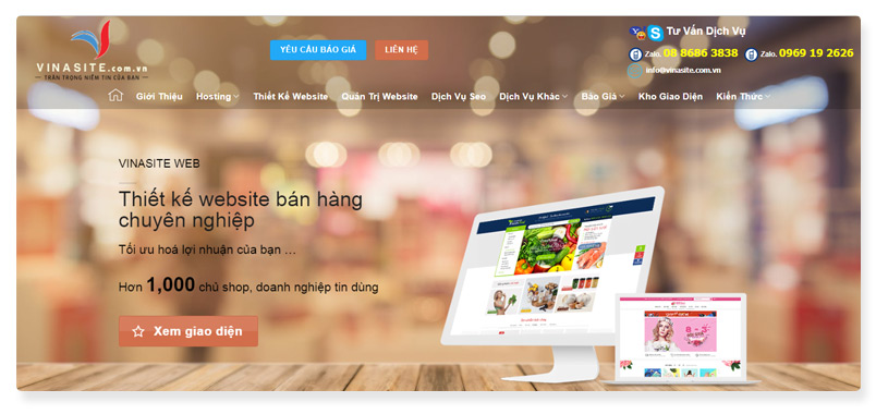 công ty thiết kế website Vinasite