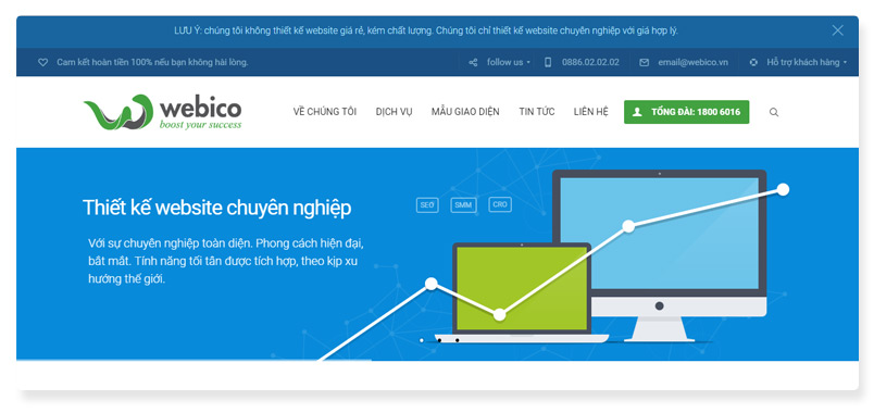 công ty thiết kế website Webico