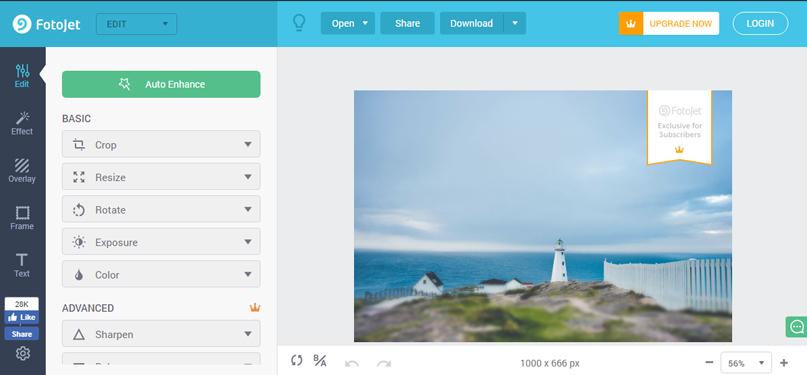 Photojet - Phần mềm thiết kế ảnh miễn phí