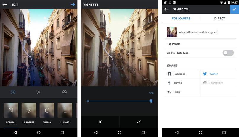 Instagram - Phần mềm chỉnh sửa ảnh miễn phí