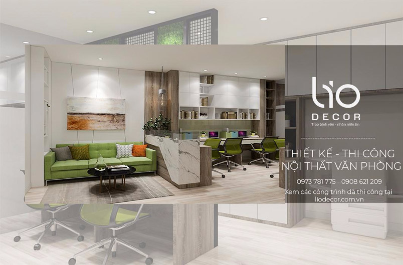 thiết kế nội thất văn phòng lio decor