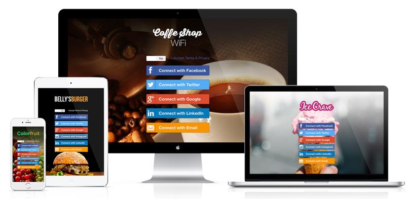 Landing Page Wifi Marketing
