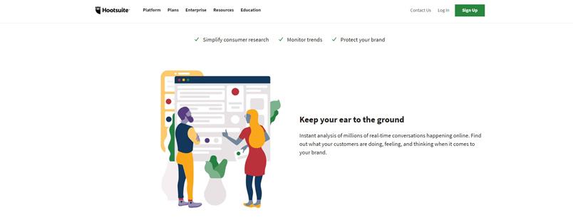 Hootsuite Social Listening