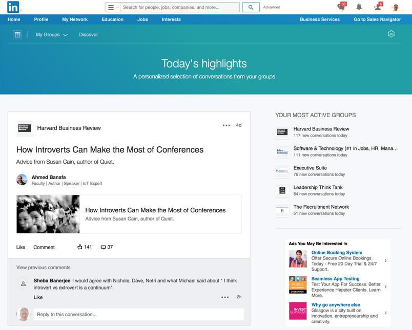công cụ LinkedIn Groups