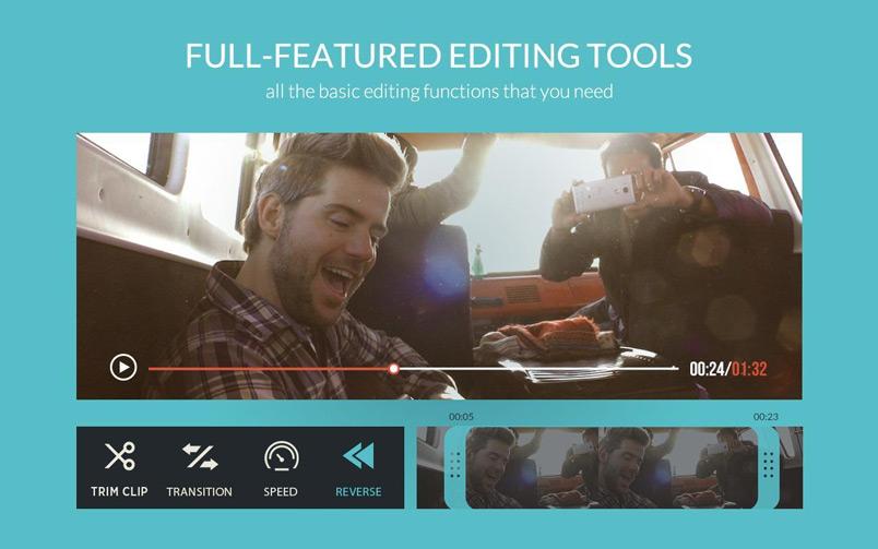 ứng dụng ghép nhạc vào video FilmoraGo