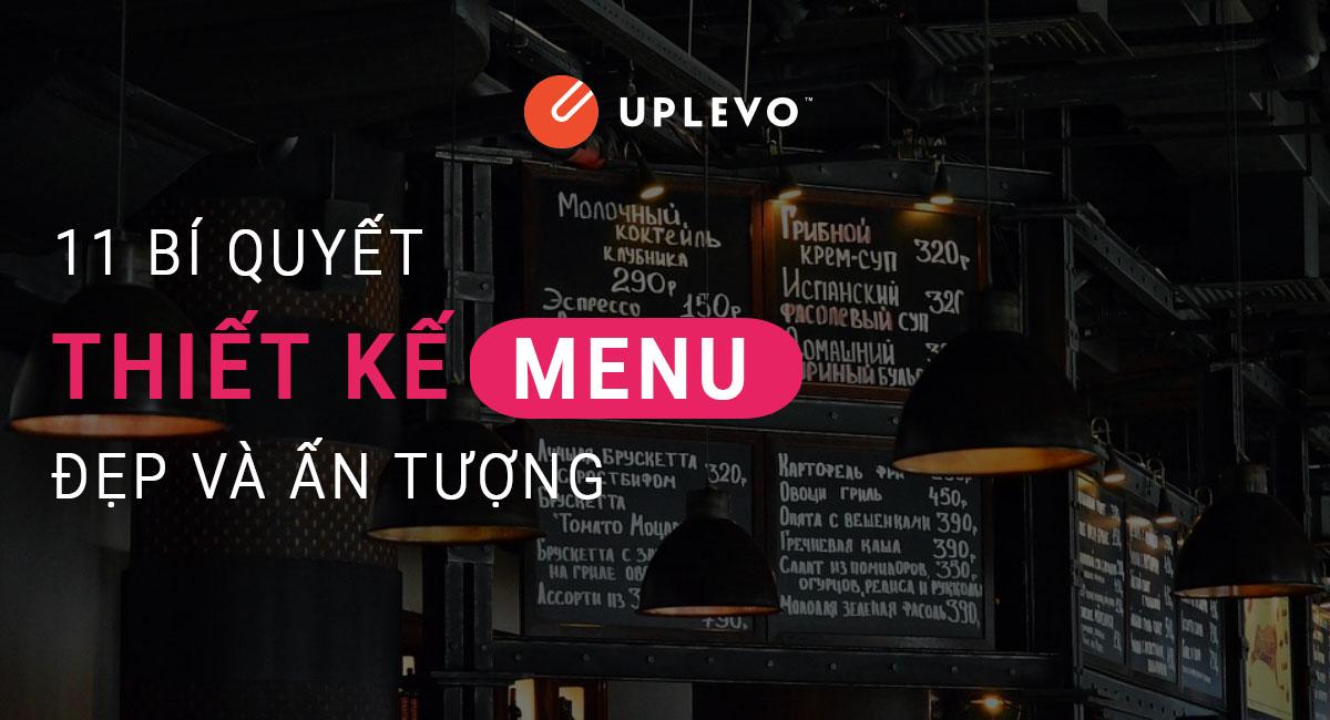 bí quyết thiết kế menu