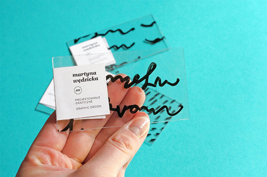 mẫu thiết kế danh thiếp đẹp Martyna Wedzicka