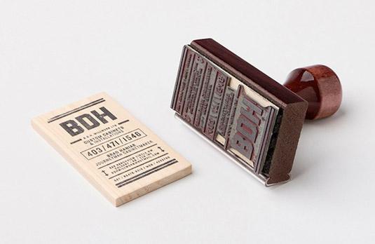 mẫu thiết kế danh thiếp đẹp BDH Millwork
